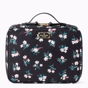 Kate Spade Marti  Flora Cosmetic Travel Case NWT